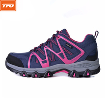 TFO Women Hiking Camping Shoes Light Sports  Shoes Outdoor Waterproof Female Climbing Walking Shoes Breathable Purple Sneaker