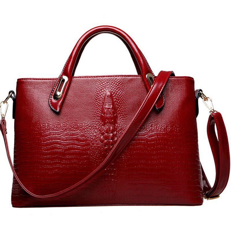 2017 New Crocodile Pattern PU leather women handbags,Vintage Designers Brand Womens shoulder bag  C40-407<br><br>Aliexpress