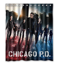 2014 Hot Sale Custom Chicago P.D Fashion Home Living Waterproof Bathroom Decor Shower Curtain 150x180cm Home Decoration U20-56