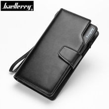 Baellerry Wallet Luxury Men Wallets Casual Male Clutch Brand Leather Wallet Men Purse With Card Holder Multi-function Money Bag