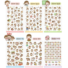 6 Pcs/Set Momoi Girl Ver2 Diy Korean Style Notebook Paper Sticker For Notebook Scrapbooking Mobile Phone