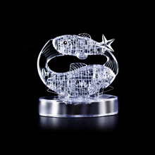 3D Crystal Puzzle Translucent DIY 3D Puzzle Kids Toys Lovely Gift Fish Crystal Puzzle Special Educational Toys