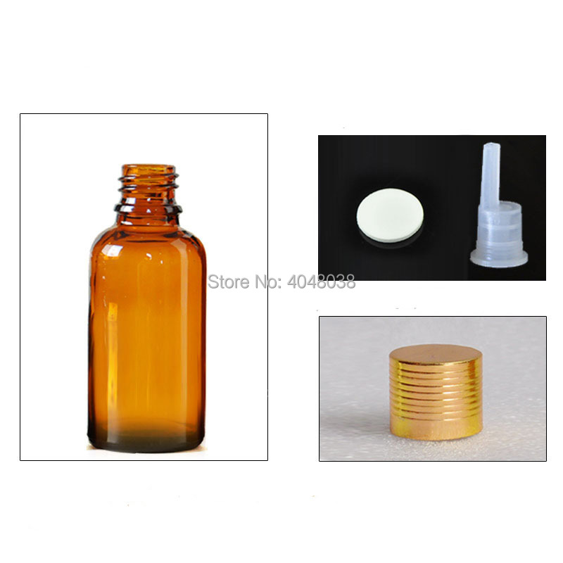 Cosmetic Container Empty Essential Oil Refillable Bottle Gold Thread Cap Perfume Vial with Inner Plug Glass Aroma Bottle 30 pcs (2)