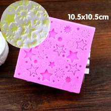 Star Texture Cake Baking Silicone Lace Molds Cupcake Fondant Cake Decorating Tools Dry Pace Cookie Clay Candy Chocolate Moulds