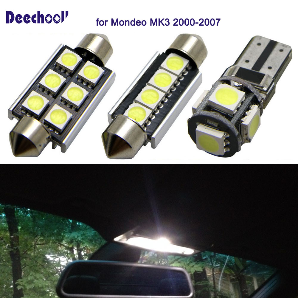 5X Rear Interior Light Lamp with Bulb for Ford Transit 2000-2006