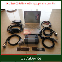 Other model Best MB Star C3 with HDD with laptop For Panasonic T8 full set Cables C3 Software installed well by DHL(China)