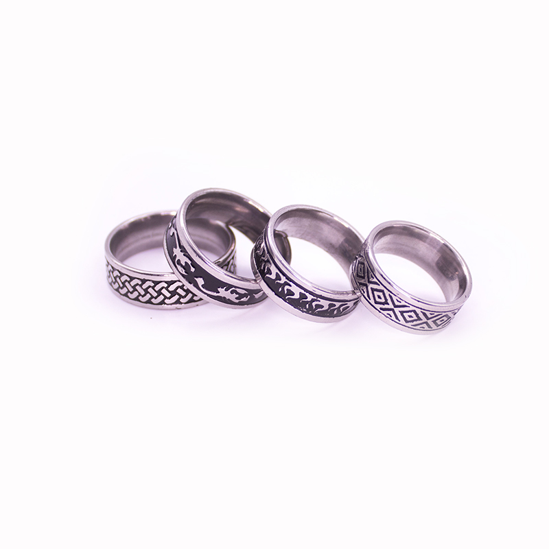 Vintage Style Unisex Stainless Steel Rings [ 100 piece lot ] 1