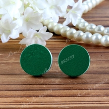 16mm Green Round High Quality Photo Wood Laser Cut Cabochon to make Rings, Earrings, Bobby pin,Necklaces, Bracelets(China)