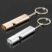 MUQGEW New Design Alloy Aluminum Men's Useful Emergency Survival Whistle Outdoor Camping Hiking Tool Keychain On Discouint(China)