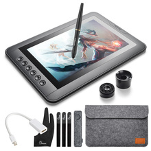 "Parblo Mast10 10.1"" Graphic Tablet Drawing Monitor 6 Shortcut Keys +Batteryless Pen Passive Pen+Mini DP to HDMI Adapter for Mac(China)"