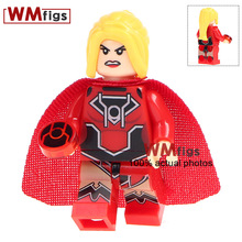 Building Blocks Single Sale WM330 Red Lantern Supergirl DC Super Hero Educational Action Figures Children Gift Toys(China)