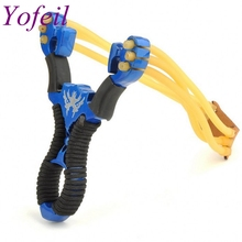 2 color Red Blue Wolverine slingshot alloy stainless steel outdoor shooting hunting and fishing nostalgic toys(China)