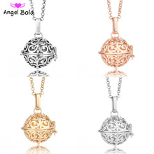 Open Aromatherapy Necklace 20.5mm Diffuser Essential Oil Cage Locket Perfume Necklace Long Chain Pendant NL011 Free Shipping