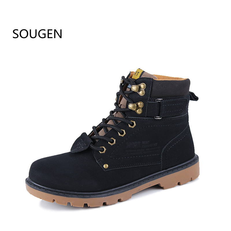 New Mens Boots Hight Quality Ankle Military Waterproof Winter Shoes Male Timberly Footwear Black Casual Plush Autumn Men Snow<br><br>Aliexpress