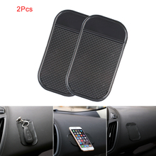 2Pcs Car Styling Car Sticky Pad Magic Anti Slip Mat New Sale Dash Mat Silicone Cell Phone For Phone GPS PDA MP3 MP4(China)