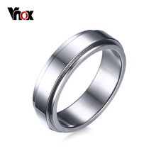 VNOX 6mm Spinner Ring Men Jewelry Stainless Steel Double Loop Design Biker