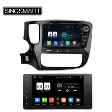 SINOSMART 2 din Android 6.0 2G RAM 8 Core Android 7.1 1G RAM Car DVD GPS Navigation Player for Mitsubishi Outlander 2014 2015