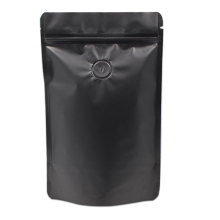 80Pcs/Lot 23x24cm Matte Pure Aluminum Foil Coffee Beans Bag Standup Pouch Zipper Reclosable With Vent 2 lbs Capacity 2 Color(China)