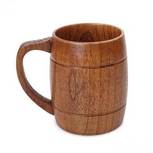 Brief wooden beer travel cup ancient round single coffee wood cup travel mug(China)