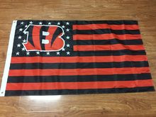 America Football Flag Cincinnati Bengals USA stars and red&black stripe polyester Team flags size 3X5FT