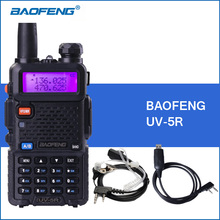 Baofeng UV-5R Portable Walkie Talkie UV5R UHF VHF Dual Band Two Way Radio 5r Handheld Walkie Talkies Ham CB Radio Commmunicator(China)