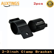 A Pair Black Bull Bar Mounting Bracket Clamps Kit 49-54m 66mm~71mm 76mm~81mm for Offroad Work Light LED Bar Driving Light Lamps