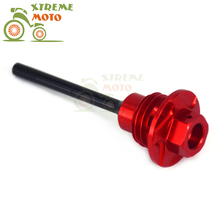 CNC Red Oil Dipstick Dip stick Engine Plugs Oil Filler Plugs For Honda CRF450R 09-16 09 10 11 12 13 14 15 16