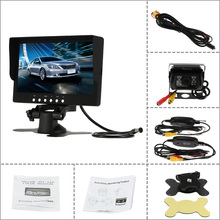 7 Inch Large TFT LCD Monitor Wireless Video Transmit Car Rear View Backup Reverse System for Bus Truck + LED Night Vision Camera
