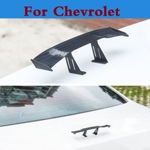 Car Carbon Rear Tail Spoiler Wing Decoration stickers for Chevrolet Lanos Malibu Metro Monte Carlo MW Niva Sail Sonic Spark