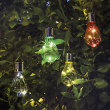 5 LED Waterproof Solar Rotatable Outdoor Garden Decor Camping Hanging LED Light Lamp Bulb Circuit Christmas Trees Kerst 2017@T20(China)