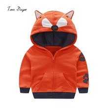 New Fashion 2017 Baby Boy Clothes Cute Animal Baby Girl Clothes Children Tops Cartoon Boys Hoodies Sweatshirts(China)