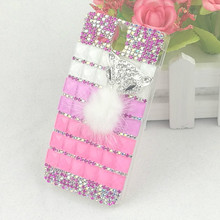 Colorful Square Case for Sony st25i Luxury Snow Fox Bling Rhinestone Shinny Diamond Mobile Phone Back Cover for Sony st25i Coque