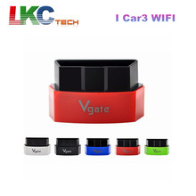 2016 Factory Price Vgate iCar3 Wifi OBD2 Code Reader I Car3 WIFI ELM327 Support OBDII Protocol Cars for Android/ IOS/PC