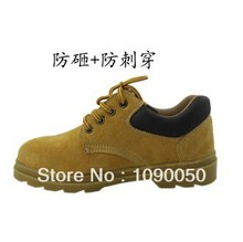 Cow muscle outsole hot-selling steel toe cap covering breathable genuine leather protective shoes casual work shoes safety shoes