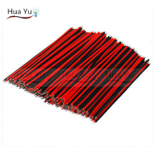 (500PCS) 2pin wire cable, Red black wire, AGW22 15cm thinned copper wire, extend wire 30cm 40cm 50cm 60cm 75cm 1m available(China)