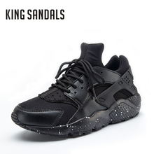 2017 Men brand casual outdoor walking shoes male size 39-46 unisex hunarache breathable black casual Men's comfortable shoes(China)