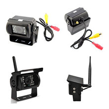 "2x Wireless IR Night Vision Truck Rear View Reverse Camera and 7"" Color Monitor"