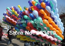 spiral screw 150cm stick colorful Latex Balloons for Birthday Wedding Party decor wholesale retail whcn