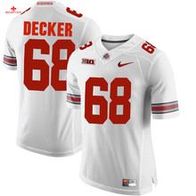 Nike 2017Ohio State Ted Ginn Jr. 7-Scarlet Can Customized Any Name Any Logo Limited Boxing Jersey Taylor Decker 68-Black(China)