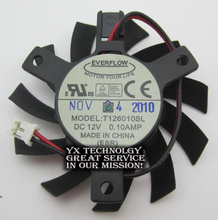 video card fanNew T126010SL 12V 0.10A 2.0 2-wire terminals 55mm diameter Graphics card fan