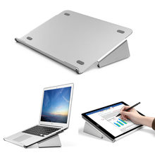 Laptop Stand Aluminium More Wider Base for 11-17 inch Notebook Tablets Graphic Tablet Painting Holder for iPad Pro Macbook(China)