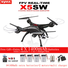 SYMA X5SW X5SW-1 FPV RC Drone 2.4G 6-Axis Quadcopter With WiFi Camera Real Time Video Remote Control Helicopter Quadrocopter(China)
