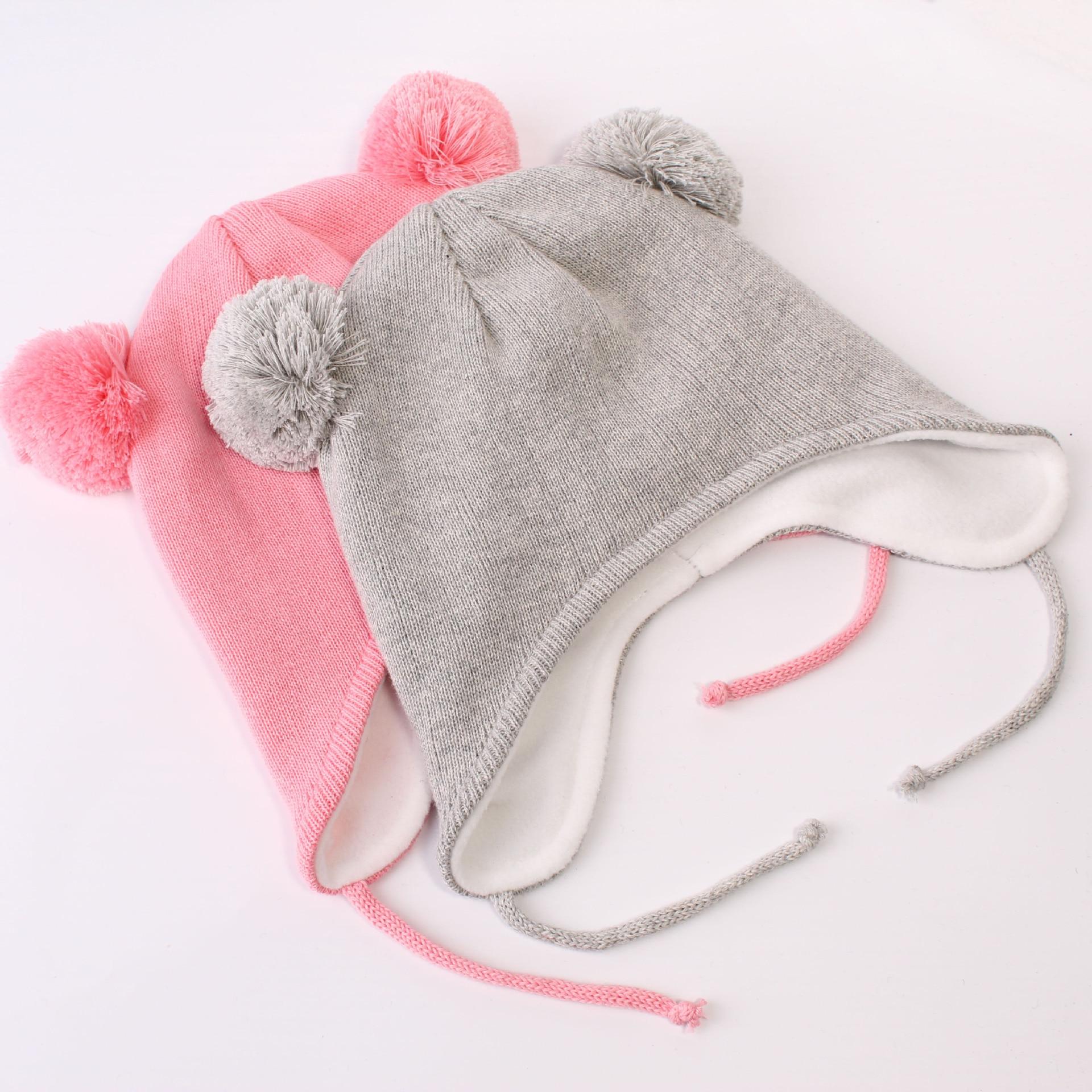 Girls Boys Winter Warm Hat Toddler Earflap Hood Baby Fleece Lining Beanie Cap