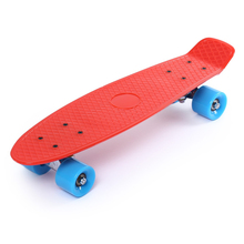 Freestyle 22 Inches Four-wheel Street Solid Long Skate Board Mini Cruiser Skateboard With 11 Colors For Adult Children(China)