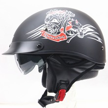Cruiser Touring motorbike helmet for Harley Bike chopper bike use Motorcycle helmet Helmet with Black sunglasses