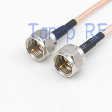 20inch F male plug to F male plug RF adapter connector 50CM Pigtail coaxial jumper cable RG316 extension cord