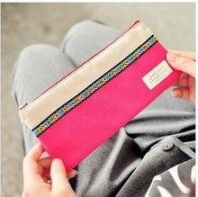 Wholesale study stationery new arrival fashion cute canvas National style Pencil bag . stripe pen holder . pouch . retail great