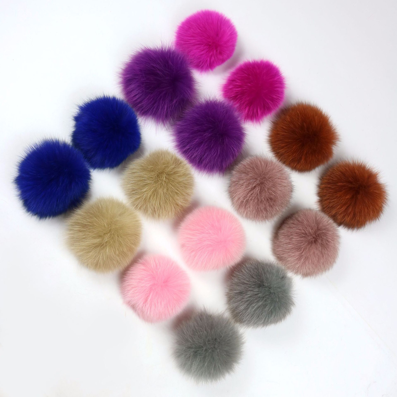 fox fur pompom ball
