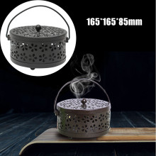 Galvanized Steel Mosquito Mozzie Coil Holder Burner Repellant Home Art Decor