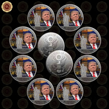 10pcs Free Shipping 45Th US President Donald Trump 99.9 Silver Challenge Trump Tower Coin Gift